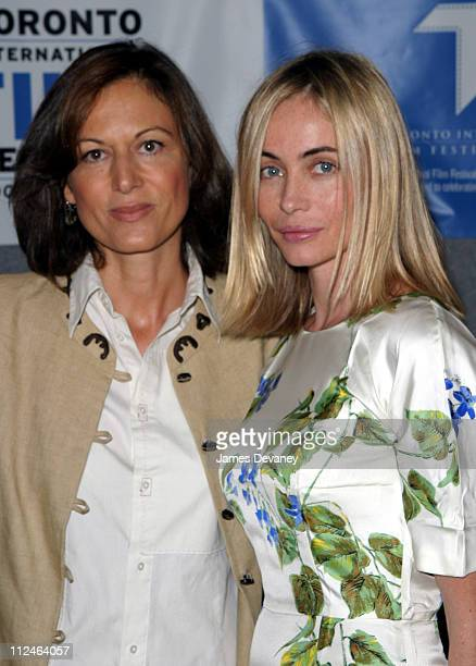 Anne Forntaine director and Emmanuelle Beart during 2003 Toronto International Film Festival 'Nathaline' Press Conference at Delta Chelsea Hotel in...