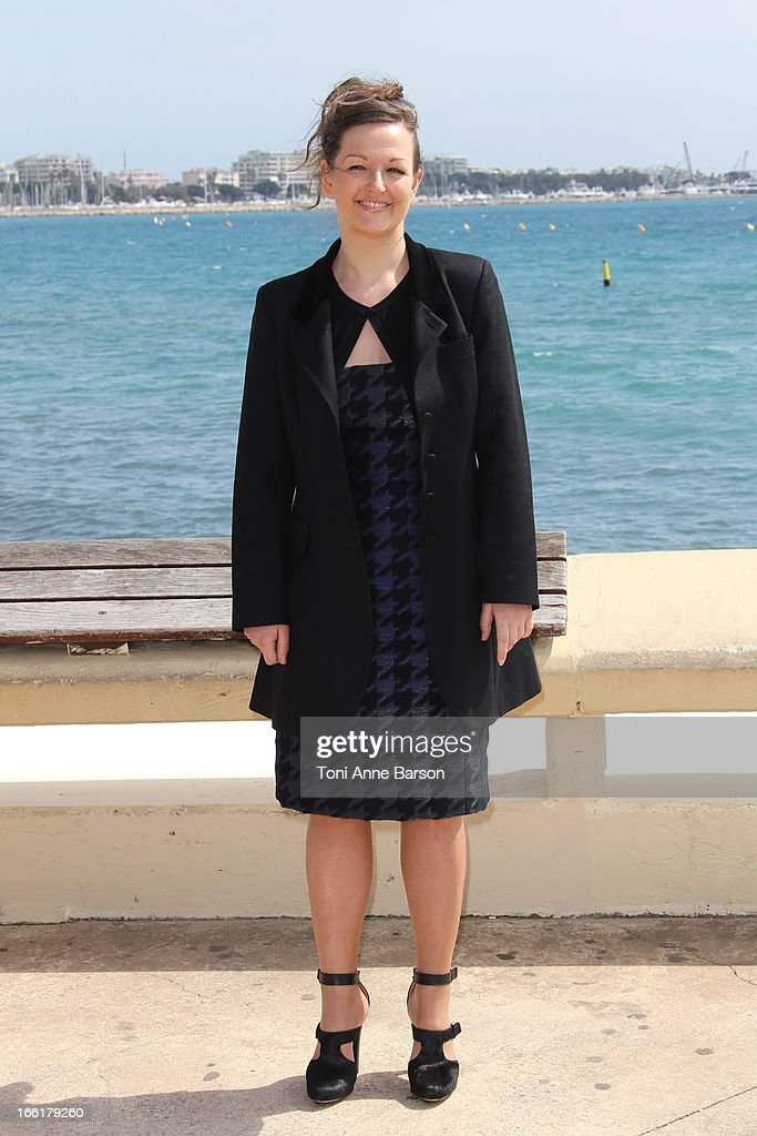 Anne Girouard attends the 'Marseille' photocall on April 9, 2013 in Cannes, France.
