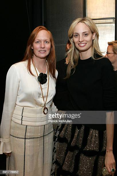 Anne Grauso and Lauren Davis attend The Camellia Luncheon Sponsored by Chanel to benefit The New York Botanical Garden at Chanel on October 25 2005...