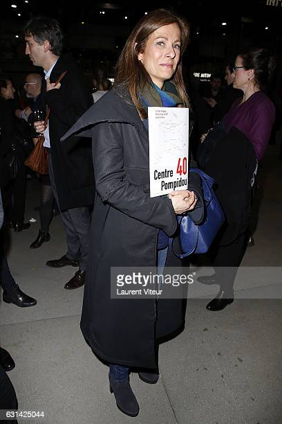 Anne Gravoin attends Centre Georges Pompidou 40th Anniversary at Centre Pompidou on January 10 2017 in Paris France