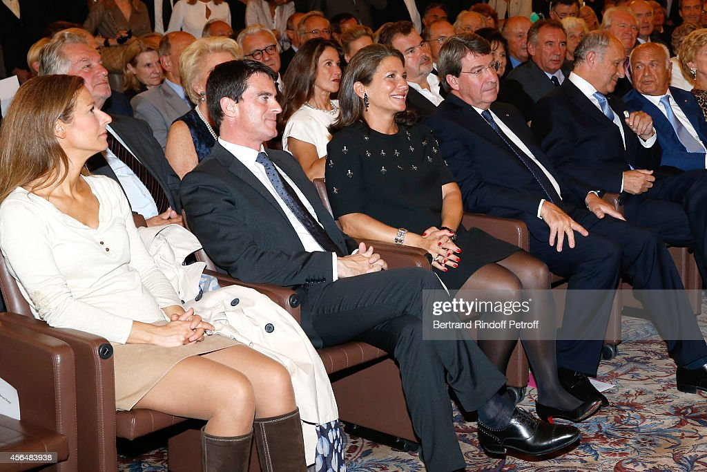 , <a gi-track='captionPersonalityLinkClicked' href=/galleries/search?phrase=Anne+Gravoin&family=editorial&specificpeople=8536985 ng-click='$event.stopPropagation()'>Anne Gravoin</a>, French Prime Minister <a gi-track='captionPersonalityLinkClicked' href=/galleries/search?phrase=Manuel+Valls&family=editorial&specificpeople=2178864 ng-click='$event.stopPropagation()'>Manuel Valls</a>, Laure Darcos, <a gi-track='captionPersonalityLinkClicked' href=/galleries/search?phrase=Xavier+Darcos&family=editorial&specificpeople=782029 ng-click='$event.stopPropagation()'>Xavier Darcos</a>, Minister of Foreign Affairs <a gi-track='captionPersonalityLinkClicked' href=/galleries/search?phrase=Laurent+Fabius&family=editorial&specificpeople=540660 ng-click='$event.stopPropagation()'>Laurent Fabius</a> and Academician Pierre Nora attend <a gi-track='captionPersonalityLinkClicked' href=/galleries/search?phrase=Xavier+Darcos&family=editorial&specificpeople=782029 ng-click='$event.stopPropagation()'>Xavier Darcos</a> receives 'L'Epee d'Academicien' in Paris on October 1, 2014 in Paris, France.