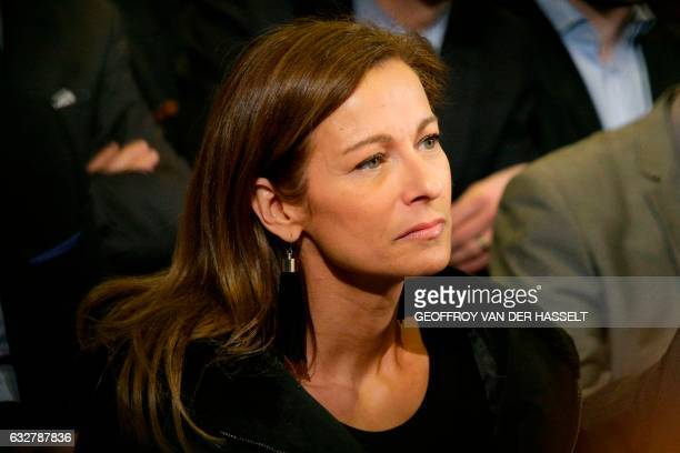 Anne Gravoin wife of former French prime minister and candidate in the leftwing primary for the 2017 French presidential election Manuel Valls...