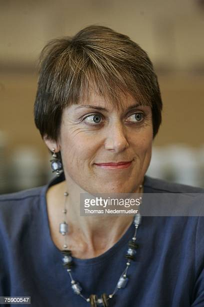 Anne Gripper anti doping commissioner of the UCI is seen during a inofficial meeting ahead of the UCI Street Cycling World Championchips 2007 on...