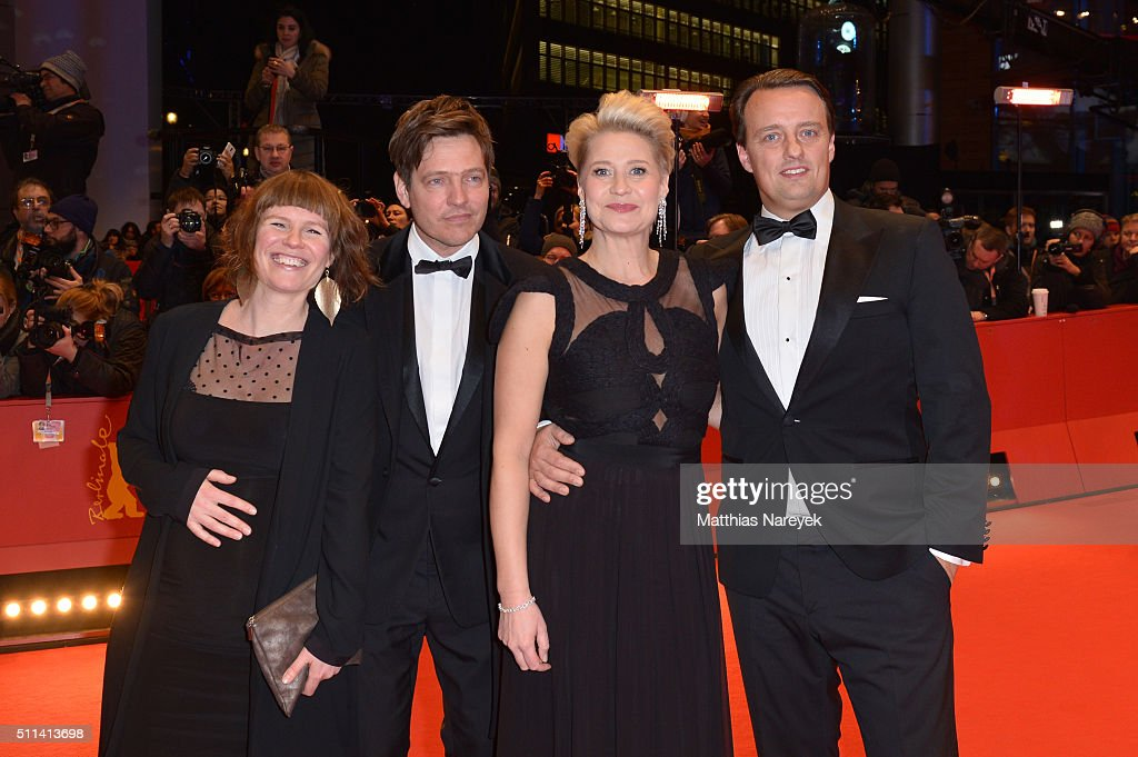 Anne Gry Henningsen Thomas Vinterberg Trine Dyrholm and Niclas Bendixen attend the closing ceremony of the 66th Berlinale International Film Festival...