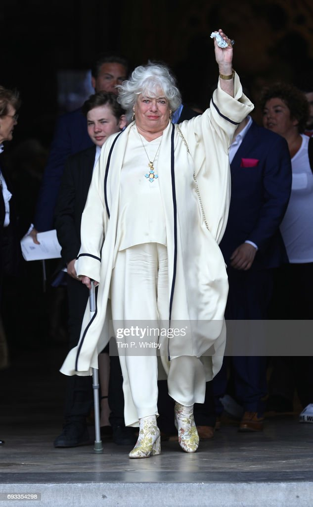 Anne Hart attends a memorial service for her late husband Ronnie Corbett at Westminster Abbey on June 7, 2017 in London, England. Corbett died in Marh 2016 at the age of 85.