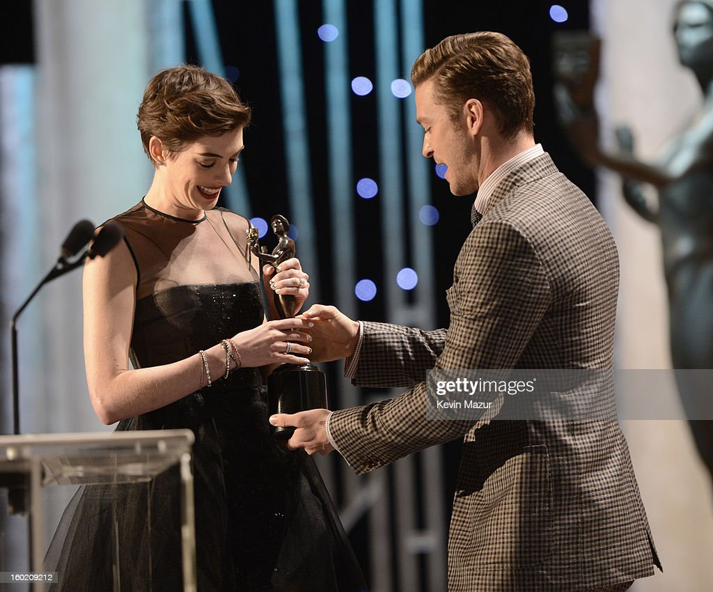 Anne Hathaway accepts award at the 19th Annual Screen Actors Guild Awards at The Shrine Auditorium on January 27, 2013 in Los Angeles, California. (Photo by Kevin Mazur/WireImage) 23116_016_1450.jpg