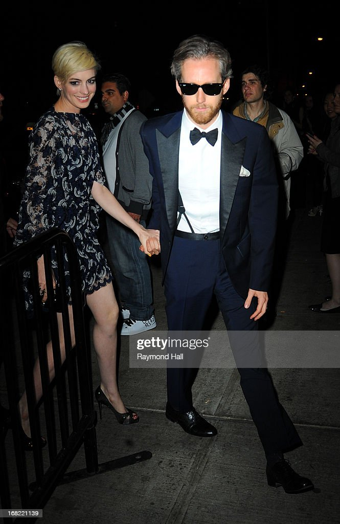 Anne Hathaway and Adam Shulman attend the 'PUNK: Chaos To Couture' Costume Institute Gala after party at The Standard hotel on May 6, 2013 in New York City.
