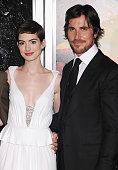 Anne Hathaway and Christian Bale attend 'The Dark Knight Rises' New York Premiere at AMC Lincoln Square Theater on July 16 2012 in New York City
