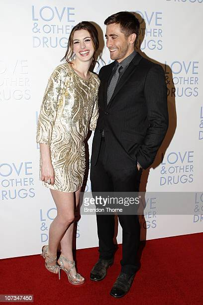 Anne Hathaway and Jake Gyllenhaal attend the Sydney premiere of 'Love Other Drugs' at Event Cinemas George Street on December 6 2010 in Sydney...