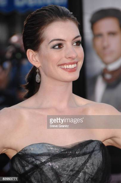 Anne Hathaway arrives at The World Premiere of 'Get Smart' on June 16 2008 at the Mann Village Theatre in Westwood California
