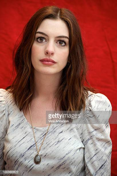 Anne Hathaway at the 'Alice In Wonderland' press conference at the Renaissance Hollywood Hotel on February 20 2010 in Hollywood California