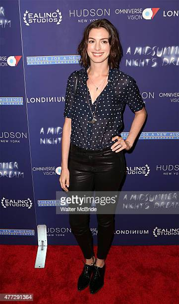Anne Hathaway attends 'A Midsummer Night's Dream' New York premiere at DGA Theater on June 15 2015 in New York City