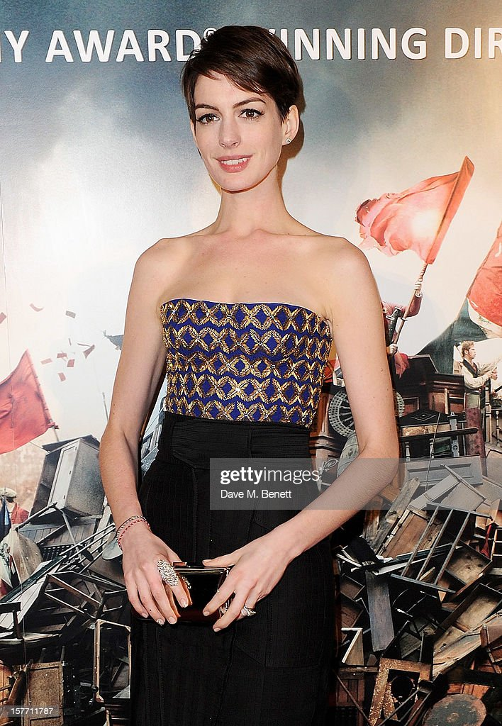 Anne Hathaway attends an after party following the World Premiere of 'Les Miserables' at The Roundhouse on December 5, 2012 in London, England.