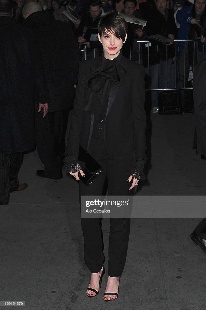 Anne Hathaway attends the 2013 National Board Of Review Awards at Cipriani 42nd Street on January 8, 2013 in New York City.