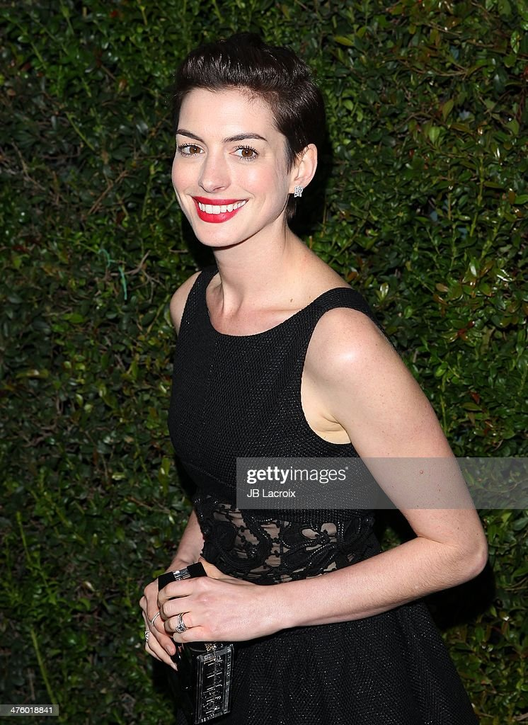 <a gi-track='captionPersonalityLinkClicked' href=/galleries/search?phrase=Anne+Hathaway+-+Actress&family=editorial&specificpeople=11647173 ng-click='$event.stopPropagation()'>Anne Hathaway</a> attends the Chanel Charles Finch Pre-Oscar Dinner held at Madeo Restaurant on March 1, 2014 in Los Angeles, California.