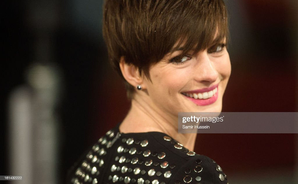 Anne Hathaway attends the EE British Academy Film Awards at The Royal Opera House on February 10, 2013 in London, England.