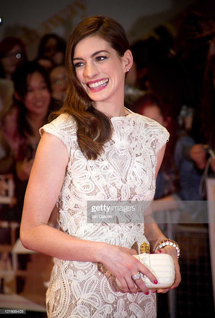 Anne Hathaway attends the European premiere of 'One Day' at Vue Westfield on August 23, 2011 in London, England.