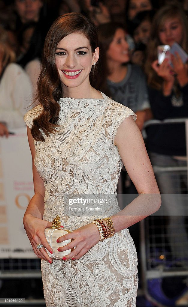 <a gi-track='captionPersonalityLinkClicked' href=/galleries/search?phrase=Anne+Hathaway+-+Actrice&family=editorial&specificpeople=11647173 ng-click='$event.stopPropagation()'>Anne Hathaway</a> attends the European premiere of 'One Day' at Vue Westfield on August 23, 2011 in London, England.