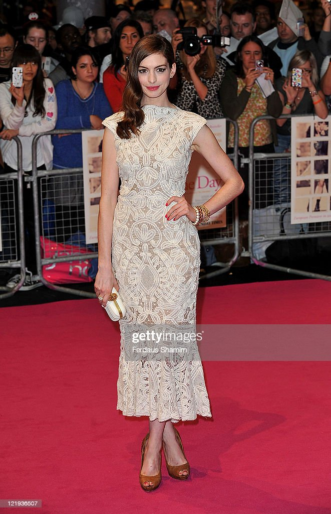 <a gi-track='captionPersonalityLinkClicked' href=/galleries/search?phrase=Anne+Hathaway+-+Actress&family=editorial&specificpeople=11647173 ng-click='$event.stopPropagation()'>Anne Hathaway</a> attends the European premiere of 'One Day' at Vue Westfield on August 23, 2011 in London, England.