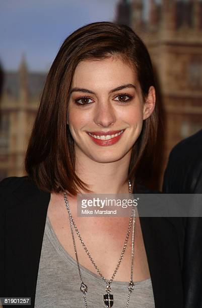 Anne Hathaway attends the 'Get Smart' photocall at Claridges on July 10 2008 in London England