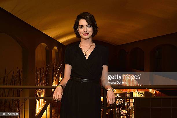 Anne Hathaway attends the LA Times' Indie Focus Screening Series 'Song One' at Sundance Cinema on January 13 2015 in Los Angeles California