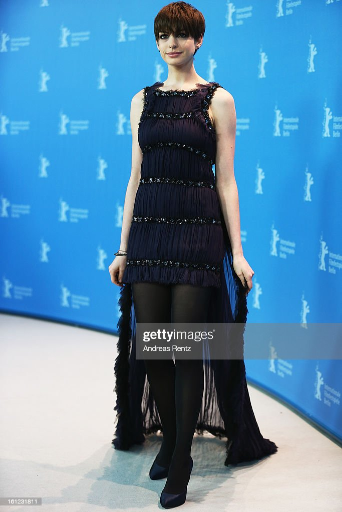 Anne Hathaway attends the 'Les Miserables' Photocall during the 63rd Berlinale International Film Festival at Grand Hyatt Hotel on February 9, 2013 in Berlin, Germany.