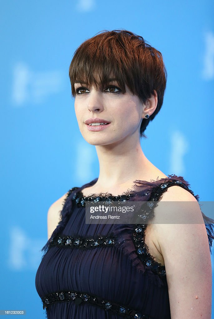 <a gi-track='captionPersonalityLinkClicked' href=/galleries/search?phrase=Anne+Hathaway+-+Actress&family=editorial&specificpeople=11647173 ng-click='$event.stopPropagation()'>Anne Hathaway</a> attends the 'Les Miserables' Photocall during the 63rd Berlinale International Film Festival at Grand Hyatt Hotel on February 9, 2013 in Berlin, Germany.