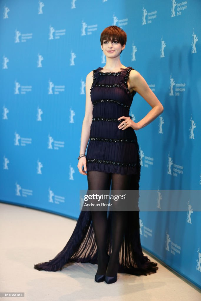 <a gi-track='captionPersonalityLinkClicked' href=/galleries/search?phrase=Anne+Hathaway+-+Attrice&family=editorial&specificpeople=11647173 ng-click='$event.stopPropagation()'>Anne Hathaway</a> attends the 'Les Miserables' Photocall during the 63rd Berlinale International Film Festival at Grand Hyatt Hotel on February 9, 2013 in Berlin, Germany.