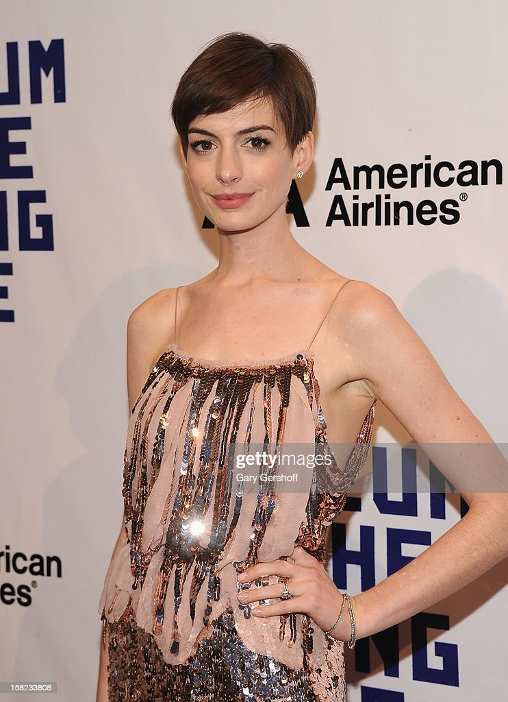 <a gi-track='captionPersonalityLinkClicked' href=/galleries/search?phrase=Anne+Hathaway+-+Actress&family=editorial&specificpeople=11647173 ng-click='$event.stopPropagation()'>Anne Hathaway</a> attends the Museum Of Moving Image Salute To Hugh Jackman at Cipriani Wall Street on December 11, 2012 in New York City.