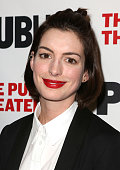 Anne Hathaway attends the opening night performance of 'Josephine and I' at the Public Theatre on March 10 2015 in New York City