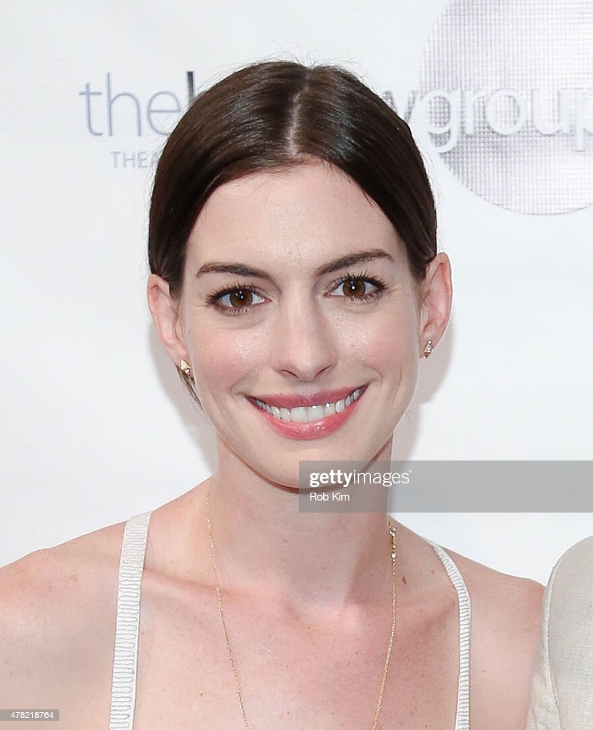 Anne Hathaway attends the release of the book, 'An Actor's Companion' at The Barrow Group on June 23, 2015 in New York City.