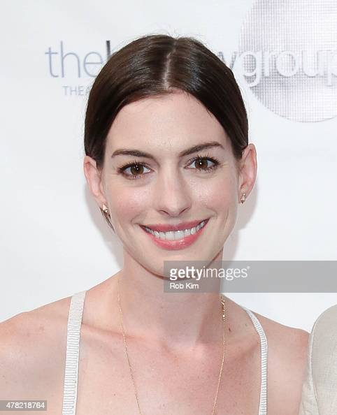 Anne Hathaway attends the release of the book 'An Actor's Companion' at The Barrow Group on June 23 2015 in New York City