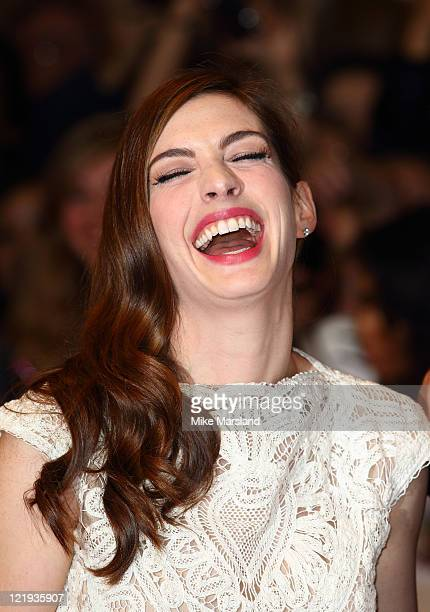 Anne Hathaway attends the UK premiere of 'One Day' at Vue Westfield on August 23 2011 in London England