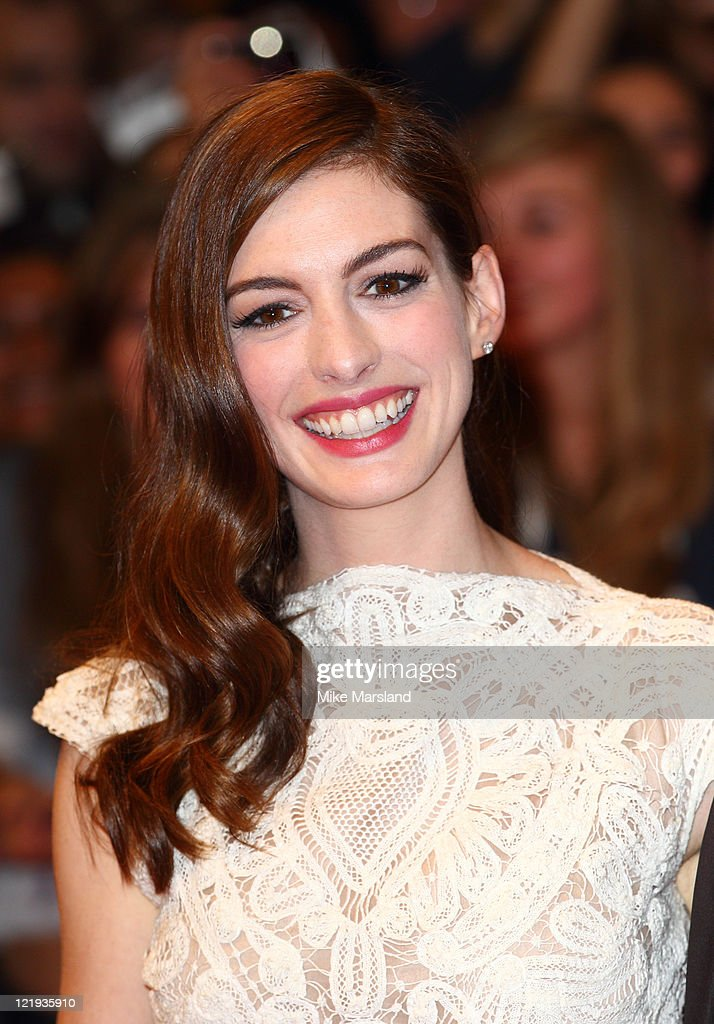 <a gi-track='captionPersonalityLinkClicked' href=/galleries/search?phrase=Anne+Hathaway+-+Actress&family=editorial&specificpeople=11647173 ng-click='$event.stopPropagation()'>Anne Hathaway</a> attends the UK premiere of 'One Day' at Vue Westfield on August 23, 2011 in London, England.