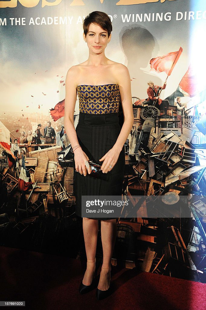 <a gi-track='captionPersonalityLinkClicked' href=/galleries/search?phrase=Anne+Hathaway+-+Actrice&family=editorial&specificpeople=11647173 ng-click='$event.stopPropagation()'>Anne Hathaway</a> attends the world premiere after party for Les Miserables at The Odeon Leicester Square on December 5, 2012 in London, England.