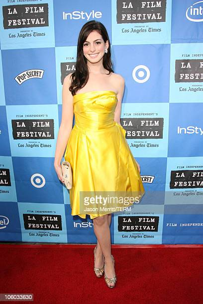 Anne Hathaway during 2006 Los Angeles Film Festival Opening Night 'The Devil Wears Prada' Premiere at Mann Village Theatre in Westwood California...