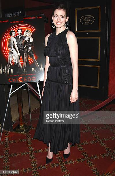 Anne Hathaway during 'Chicago' Special Screening to Benefit GLAAD and Broadway Cares at The Ziegfeld Theater in New York City New York United States