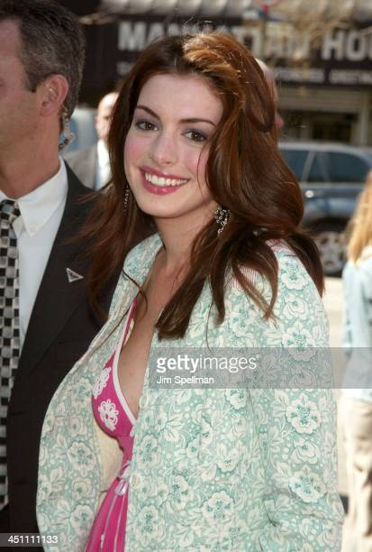Anne Hathaway during Ella Enchanted New York Premiere Outside Arrivals at Clearview Beekman Theatre in New York City New York United States