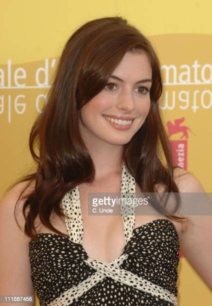 Anne Hathaway during The 63rd International Venice Film Festival 'The Devil Wears Prada' Photocall in Venice Italy