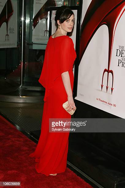Anne Hathaway during Twentieth Century Fox Premiere of 'The Devil Wears Prada' Arrivals at AMC Loews Lincoln Square at 1998 Broadway on 68th Street...