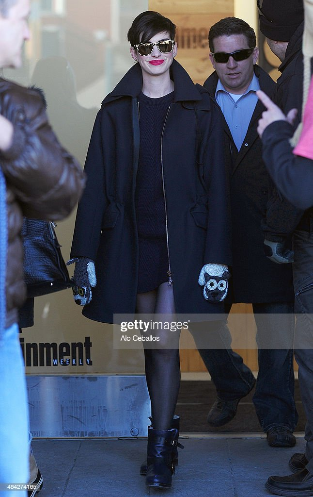 <a gi-track='captionPersonalityLinkClicked' href=/galleries/search?phrase=Anne+Hathaway+-+Actress&family=editorial&specificpeople=11647173 ng-click='$event.stopPropagation()'>Anne Hathaway</a> is seen at Sundance Festival on January 21, 2014 in Park City, Utah.
