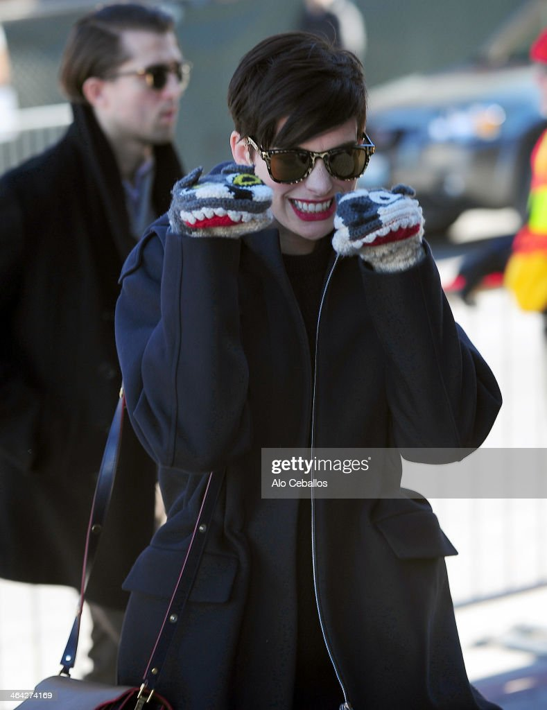 Anne Hathaway is seen at Sundance Festival on January 21, 2014 in Park City, Utah.