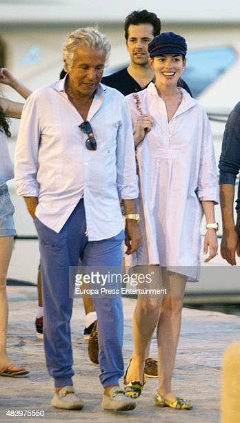 Anne Hathaway is seen on August 13 2015 in Ibiza Spain