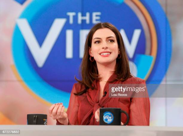 THE VIEW Anne Hathaway is the guest Thursday April 20 2017 on ABC's 'The View' 'The View' airs MondayFriday on the ABC Television Network HATHAWAY