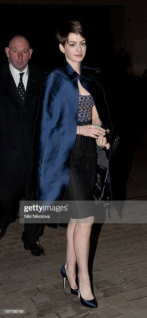 Anne Hathaway sighting on December 5, 2012 in London, England.