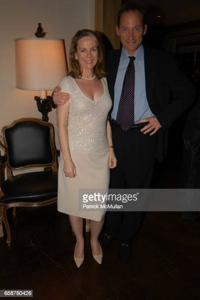 Anne Hearst and Tony Peck attend Kathy and Rick Hilton's party for Donald Trump and 'The Apprentice' at the Hiltons' Home on February 28 2004 in...
