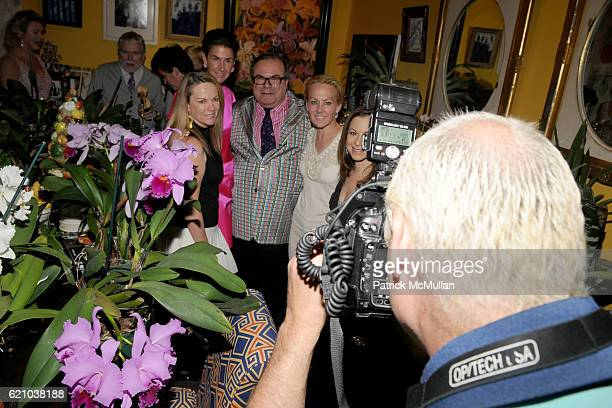 Anne Hearst Somers Farkas Hunt Slonem Muffie Potter Aston Bettina Zilkha and Steve Eichner attend A Private Dinner to celebrate the opening of HUNT...