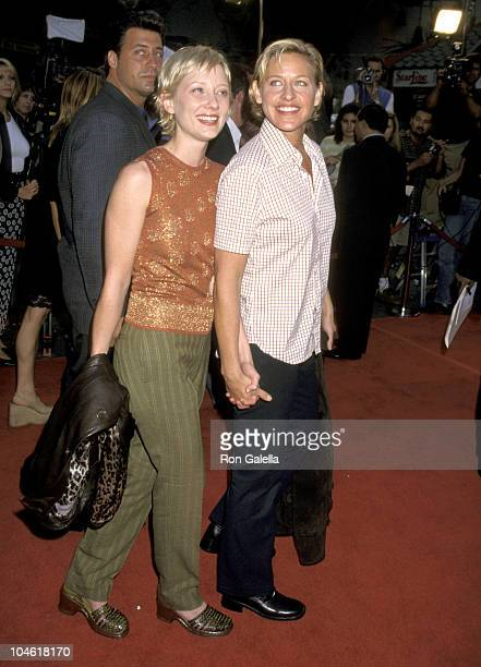 Anne Heche and Ellen DeGeneres during Los Angeles Premiere of 'Face Off' at Mann Chinese Theatre in Hollywood California United States