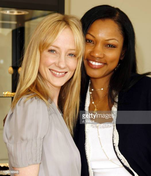Anne Heche and Garcelle Beauvais at the Jaguar Getaway Suite