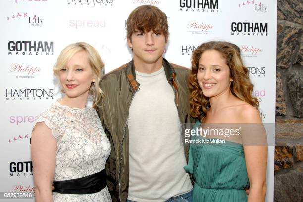 Anne Heche Ashton Kutcher and Margarita Levieva attend 'SPREAD' Premiere with GOTHAM HAMPTONS magazines at UA East Hampton Theater on August 8 2009...